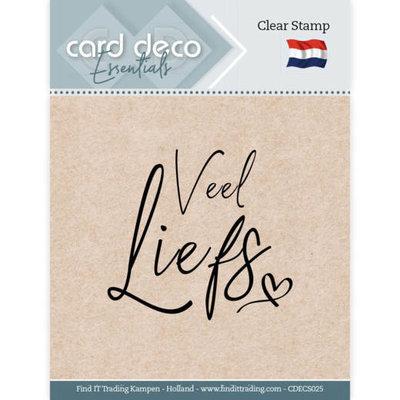 CDECS025 Card Deco Essentials - Clear Stamps - Veel Liefs