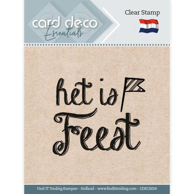 CDECS024 Card Deco Essentials - Clear Stamps - Het is Feest