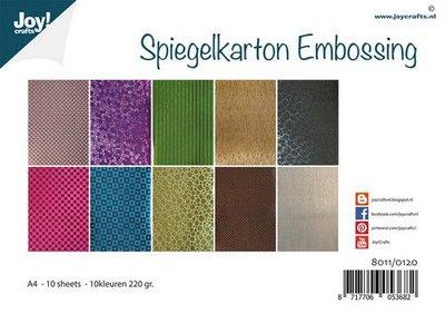 Joy! Crafts Spiegelkarton Embossing 10vl 8011/0120 A4 (11-20)