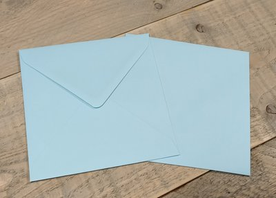 Enveloppen 15,5x15,5cm 120 grams lichtblauw per 10 stuks