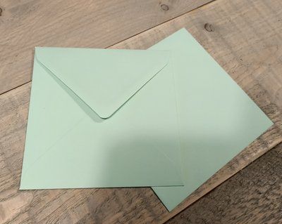 Enveloppen 15,5x15,5cm 120 grams mint per 10 stuks