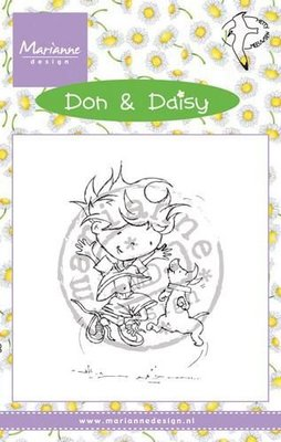 Marianne D Stempel Don & daisy's Jumping with dog DDS3350