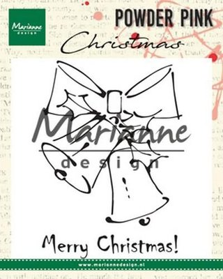 Marianne D Clear stamp Merry Christmas bells PP2810 10x12,5cm