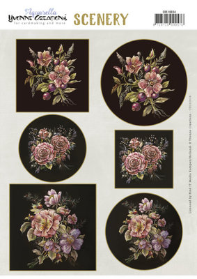 CDS10034 Scenery - Yvonne Creations - Aquarella - Antique Flowers