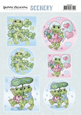CDS10022 Scenery - Yvonne Creations - Happy Frogs
