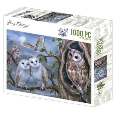 ADZP1008 Jigsaw puzzel 1000 pc - Amy Design - Amazing Owls