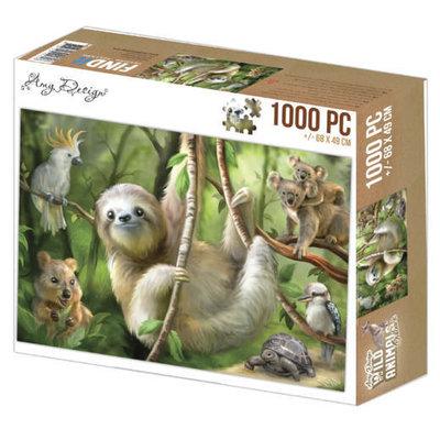 ADZP1007 Jigsaw puzzel 1000 pc - Amy Design - Sloth