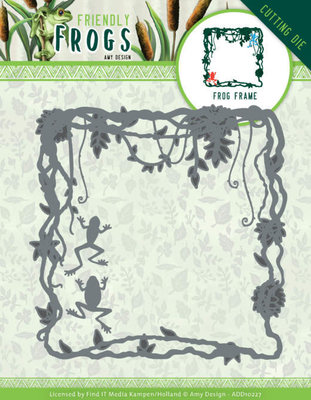 ADD10227 Dies - Amy Design - Friendly Frogs - Frog Frame