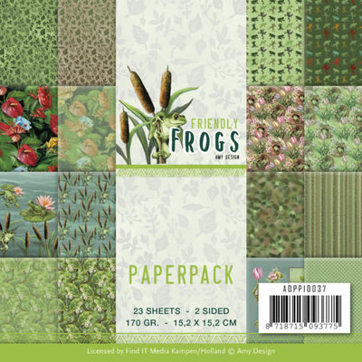 ADPP10037 Paperpack - Amy Design - Friendly Frogs