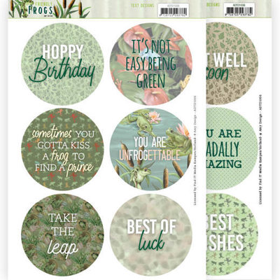 ADTD1006 Text Designs - Amy Design - Friendly Frogs (EN)