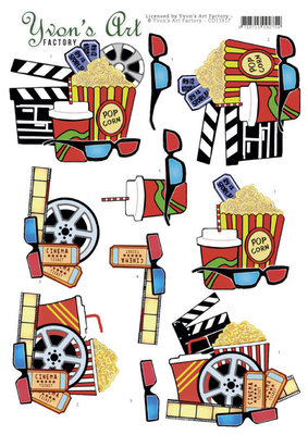 CD11617 3D Cutting Sheet - Yvon's Art - Cinema