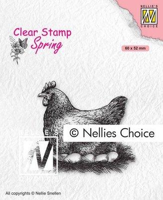 Nellies Choice Clearstempel - Moeder kip SPCS019 60x52mm (01-21)