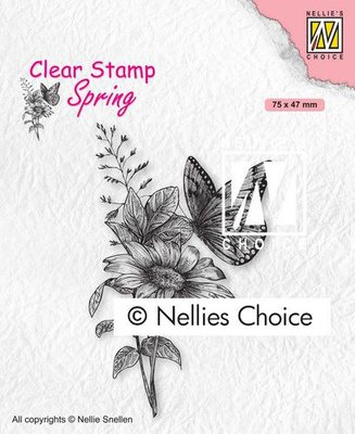 Nellies Choice Clearstempel - Vlinders SPCS018 75x47mm (01-21)