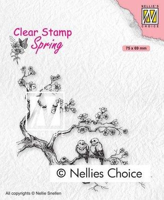 Nellies Choice Clearstempel - Lente liefdes SPCS017 75x69mm (01-21)