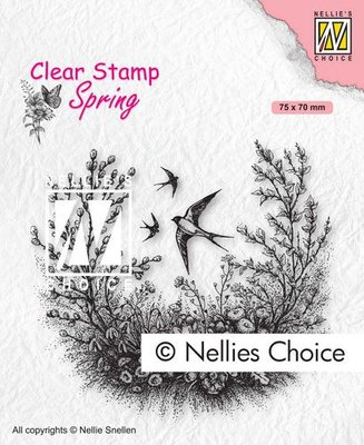 Nellies Choice Clearstempel - Lente SPCS016 75x70mm (01-21)