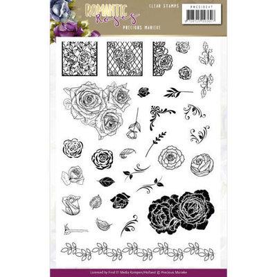 PMCS10047 Clear Stamps - Precious Marieke - Romantic Roses