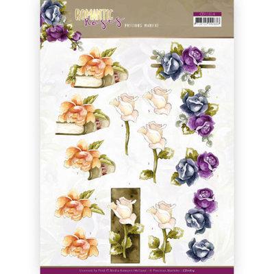 CD11614 3D cutting sheet - Precious Marieke - Romantic Roses - Multicolor Rose