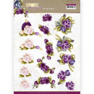 CD11613 3D cutting sheet - Precious Marieke - Romantic Roses - Purple Rose