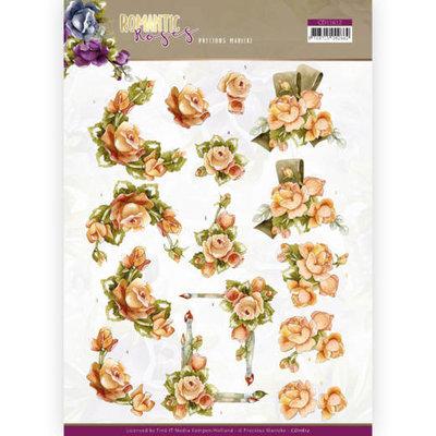 CD11612 3D cutting sheet - Precious Marieke - Romantic Roses - Orange Rose