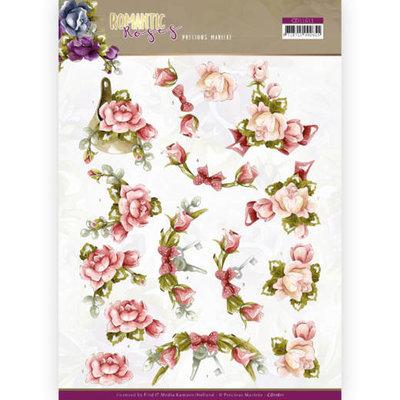 CD11611 3D cutting sheet - Precious Marieke - Romantic Roses - Pink Rose
