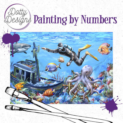DDP1018 Dotty Designs Painting by Numbers - Diving