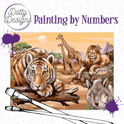 DDP1017 Dotty Designs Painting by Numbers - Safari 2