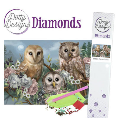 DDD1026 Dotty Designs Diamonds - Romantic Owls