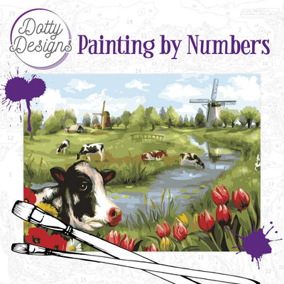 DDP1014 Dotty Design Painting by Numbers - Landscape
