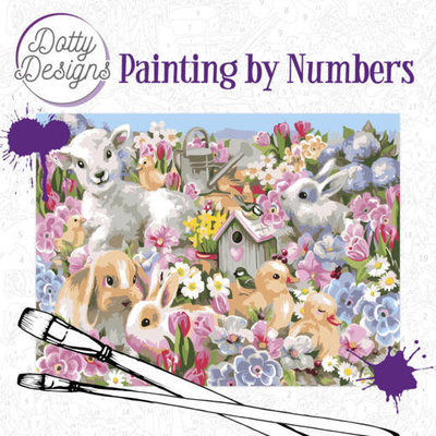 DDP1013 Dotty Design Painting by Numbers - Baby Animals