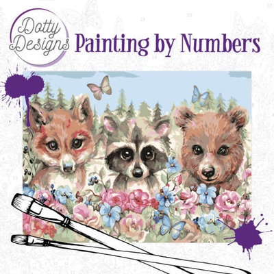 DDP1012 Dotty Design Painting by Numbers - Forest Animals