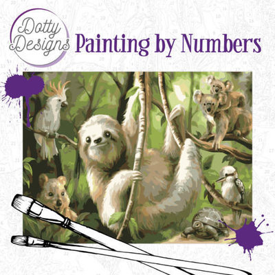 DDP1010 Dotty Design Painting by Numbers - Sloth