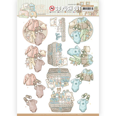 SB10520 3D Push Out - Yvonne Creations - Newborn - Baby Clothes