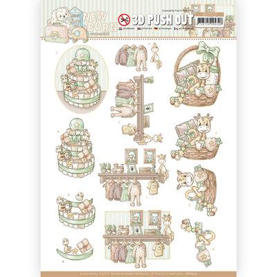 SB10519 3D Push Out - Yvonne Creations - Newborn - Baby Basket