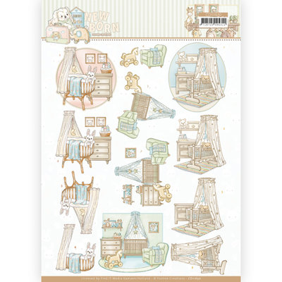 CD11630 3D cutting sheet - Yvonne Creations - Newborn - Baby Cradle