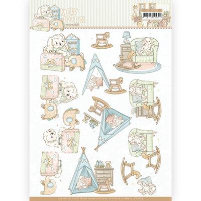CD11629 3D cutting sheet - Yvonne Creations - Newborn - Baby Rocking Horse