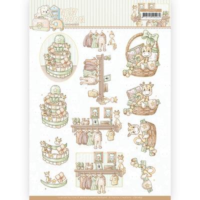 CD11627 3D cutting sheet - Yvonne Creations - Newborn - Baby Basket