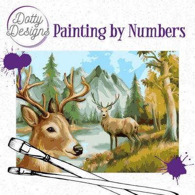 DDP1020 Dotty Designs Painting by Numbers - Deer
