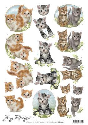 CD11457 3D Cutting Sheet - Amy Design - Cats