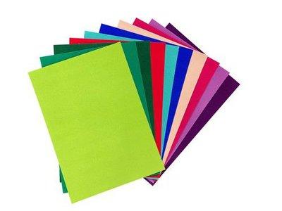 Joy! Crafts Fluweel Papier zelfklevend Felle kleuren 10vl 8011/0003 29,7x21cm (02-21)