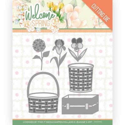 JAD10116 Dies - Jeanine's Art  Welcome Spring - Spring Basket
