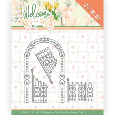 JAD10113 Dies - Jeanine's Art  Welcome Spring - Arch and Fence