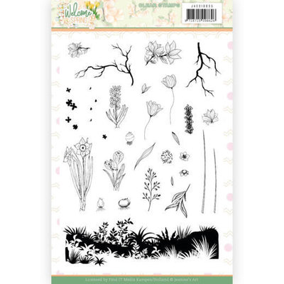 JACS10035 Clear Stamps - Jeanine's Art  Welcome Spring