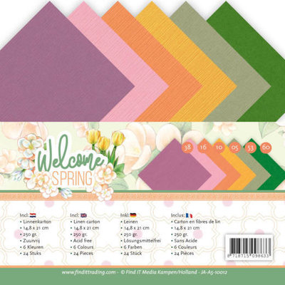 JA-A5-10012 Linen Cardstock Pack - A5 - Jeanine's Art  Welcome Spring