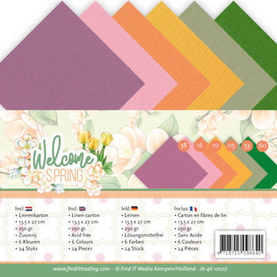 JA-4K-10012 Linen Cardstock Pack - 4K - Jeanine's Art  Welcome Spring
