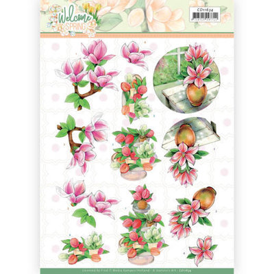 CD11634 3D cutting sheet - Jeanine's Art  Welcome Spring - Pink Magnolia