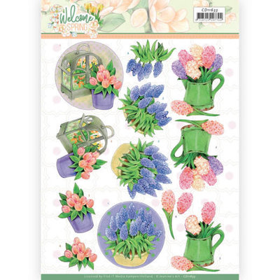 CD11633 3D cutting sheet - Jeanine's Art  Welcome Spring - Hyacinth