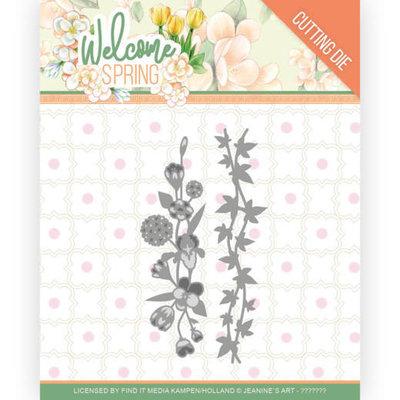 JAD10114 Dies - Jeanine's Art  Welcome Spring - Flowers and Leaf Borders