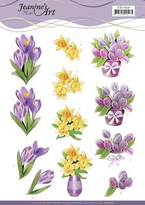CD11626 3D Cutting Sheet - Jeanine's Art - Spring Flowers