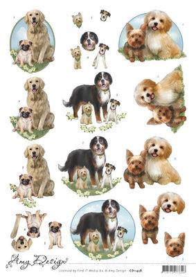 CD11458 3D Cutting Sheet - Amy Design - Dogs