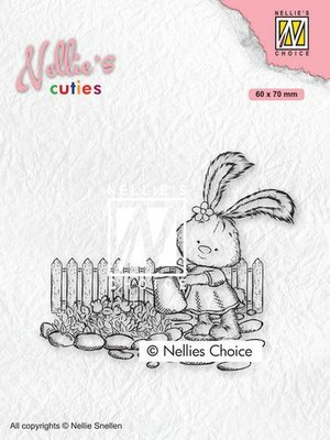 Nellies Choice Clearstempel - Cuties Lena tuinieren NCCS001 (02-21)